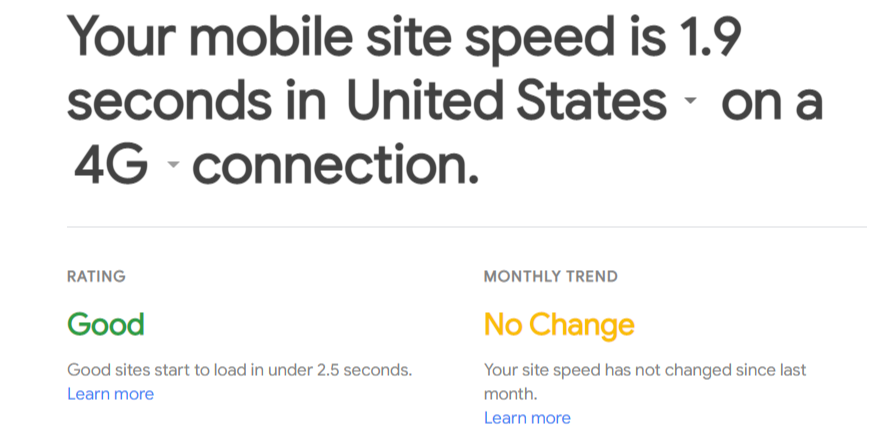 mobile site speed test