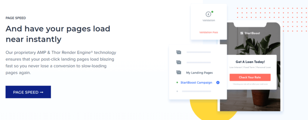 Instapage business page