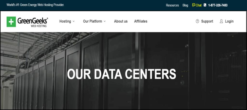 GreenGeeks data center features