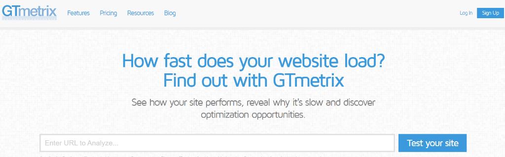 GTmetrix login