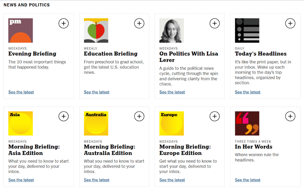 The-New-York-Times-Newsletters