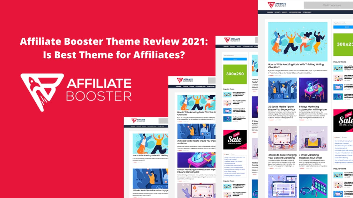 Affiliate Booster Theme Review