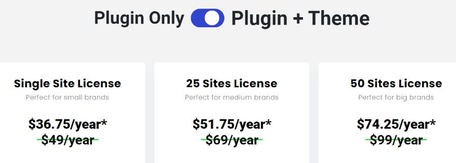 Affiliate Booster Theme and Plugin Pricing