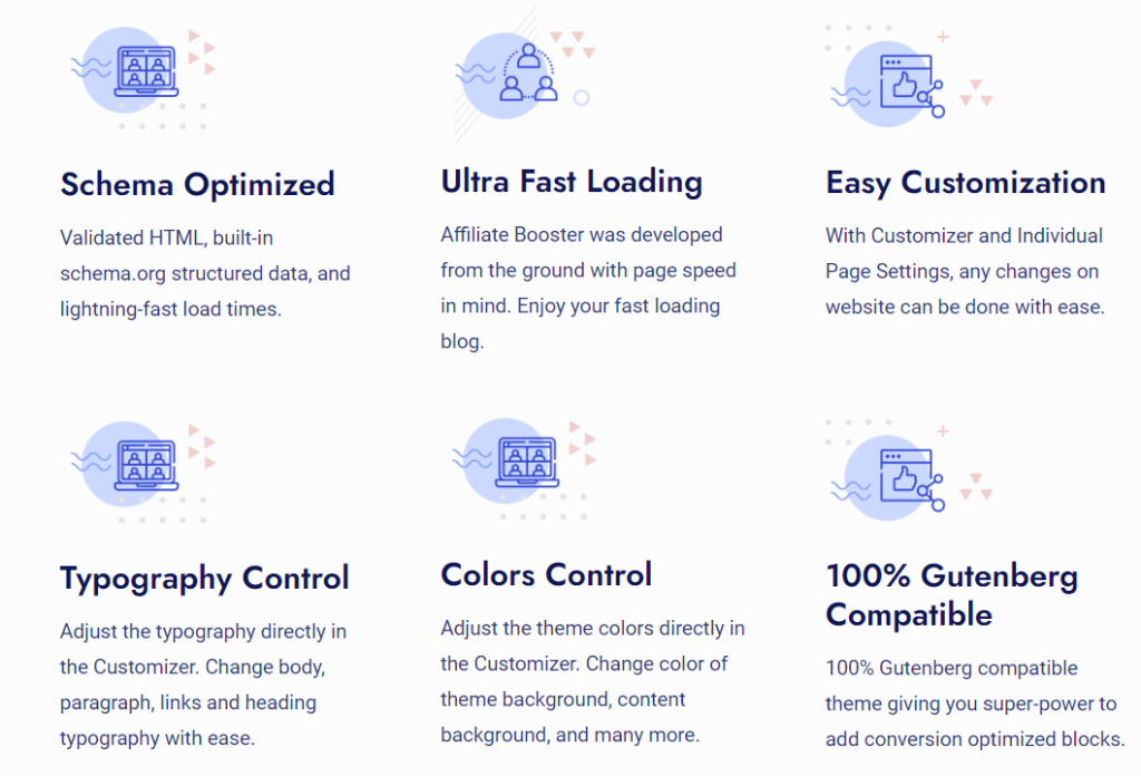 Affiliate Booster theme features